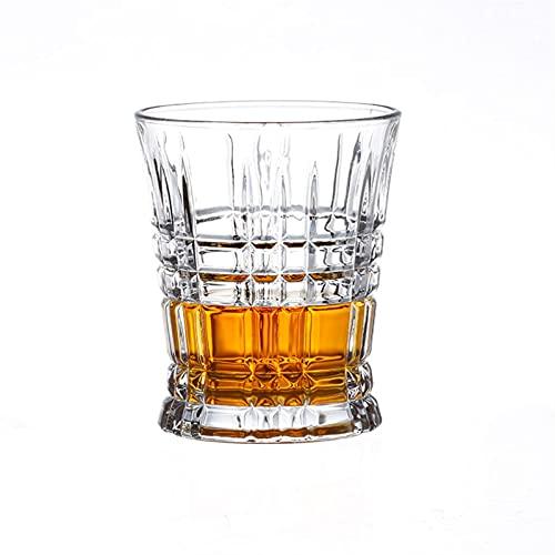 Casual Copa De Licor 2-PC De Vidrio 260ML Cerveza Whisky Coctel Tinto Borbón Scotch Home Office Barra Cocina 8.6X10CM MUMUJIN