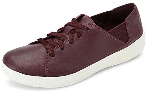 FitFlopF-Sporty Laceup Sneaker - F-Sporty, Schnürschuh, Sneaker Damen, Violett (Deep Plum), 7.5 M EU