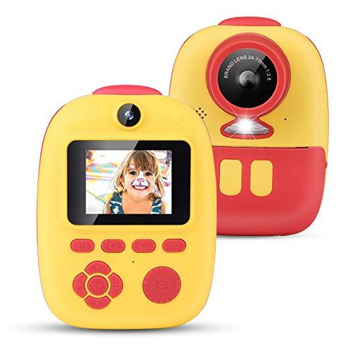 Mbuynow Fotocamera per bambini, schermo IPS da 2,0 pollici digitale ricaricabile per bambini per ragazzi e ragazze, funzione di temporizzazione e scat