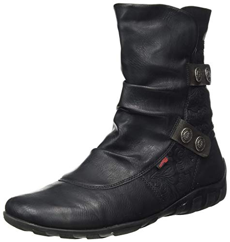 Remonte Damen R3495 Stiefelette, schwarz/Altsilber / 01,37 EU Weit