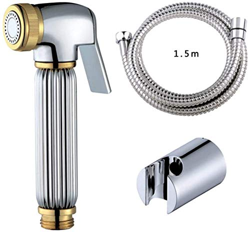 Badkamer benodigdheden Badkamer kraan, Brass bidet Douche Spray Chrome Hygiënische Toilet Draagbaar Toilet Plating Pijp van de nevel Sprinkler douchekop bidet douche bidet, Set C (Color : Set C)