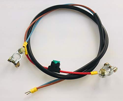 Anschlußkabel Laderegler-Batterie 2x4mm² mit 30A Sicherung
