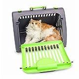 DZL® Transportín triangular plástico de gato y Perros Lavable para viaje,pasear Recomendado para Mascotas de hasta 6kg 45x35x30cm (Aleatorio)