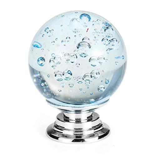 MYAMIA Tiradores De Puerta De Vidrio De Cristal Tiradores Perillas Aleación De Zinc para Armario Armario Cajón - Azul Claro