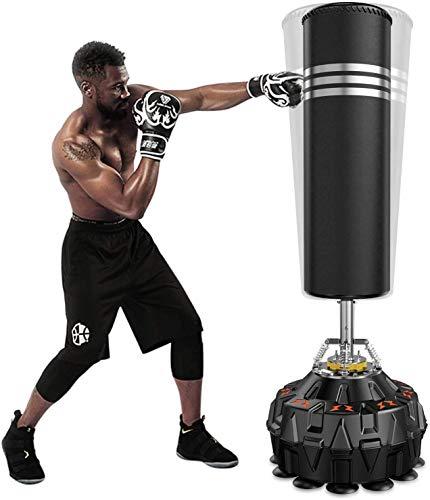 YOLEO Boxsack StandboxsäckeTrainingsgeräte Erwachsene Freistehender Standboxsack Boxing Trainer Heavy Duty Punchingsäcke (Schwarz (178cm/70inch))