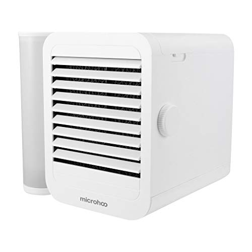 Household Small Air Cooler Desktop-Mini-Luftkühler Kleine Klimaanlage, Haushaltskleinluftkühler kleiner Klimaanlagenlüfter Multifunktionale Mini-Klimaanlage Portable Compact and compact design (Weiß)
