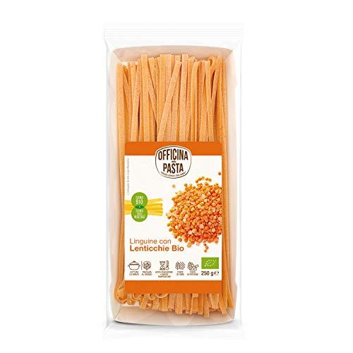 Linguine con lentejas rojas bio - Oficina della pasta - 250g (cja 8 ud) Total: 2000g