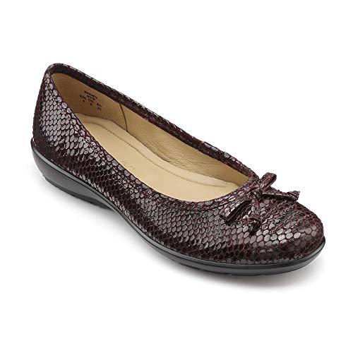hotter Women's Emmy Ballet Shoes Plum-Lizard 6 US Flats