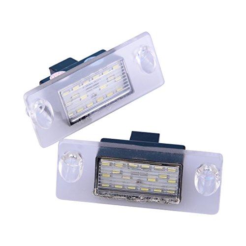 beler 2pcs 18 LED feux de plaque d'immatriculation queue lampe Fit pour Audi A4 B5 1995-2001