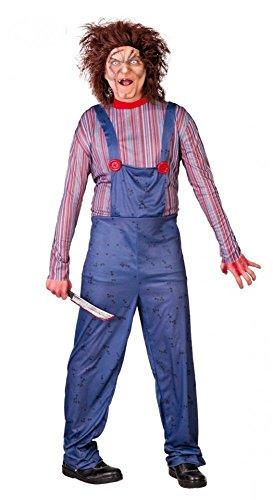shoperama Chucky Mörderpuppe Herren-Kostüm Killer-Puppe Zombie Halloween Horror , Größe:M
