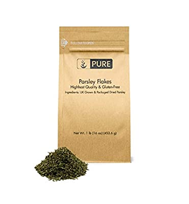 Parsley Flakes by Pure Organic Ingredients, Highest Quality & 100% Pure, & All-Natural, Rich-in-Flavor & High-in-Nutrients, Heart Healthy, Eco-Friendly Packaging
