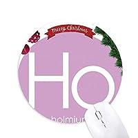 化学元素周期表 クリスマスツリーの滑り止めゴム形のマウスパッド