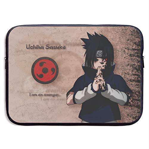 Anime Naruto Uchiha Sasuke - Funda protectora universal para portátil de 13 a 15 pulgadas, impermeable, con cremallera, dos opciones de tamaño