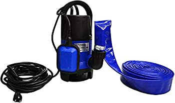 Professional EZ Travel Collection Submersible Drain Pump and 25  Water Hose Sump Pump Kit for Pools Hot Tubs Water Tanks Ponds and More  2,000 GPH