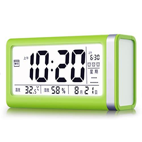 Ygddwecljnz Intelligente wekker LED snooze digitaal touch-bediening instelbaar 3 alarmsystemen voor de slaapkamer thuis bureauklok voor studenten