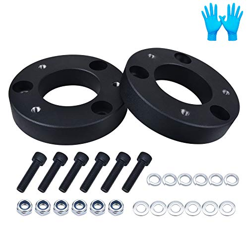 BDFHYK 2 Inch Front Suspension Leveling Lift Kit 6061 T6 Aluminum Billet Strut Spacers Compatible with Ford F150 2WD 4WD 2004-2020