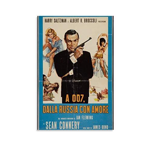 NQSB Film Stars Sean Connery 007 James Bond 29 Poster decorativo su tela da parete per soggiorno, camera da letto, 50 x 75 cm