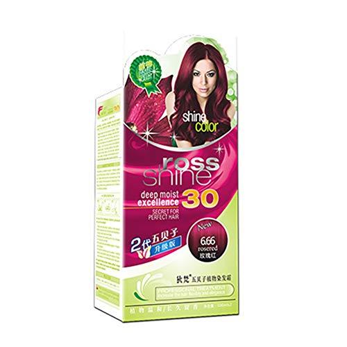Teinture pour les cheveux végétaux, shampooing temporaire pour les cheveux, teinture capillaire instantanée pour hommes femmes - effet durable - ingrédients végétaux naturels