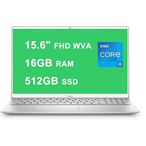 "Flagship 2021 Dell Inspiron 15 5000 5505 Laptop 15.6"" FHD WVA Display 11th Gen Intel Quad-Core i5-1135G7 16GB RAM 512GB SSD Fingerprint Backlit Keyboard USB-C MaxxAudio Win10 Silver"