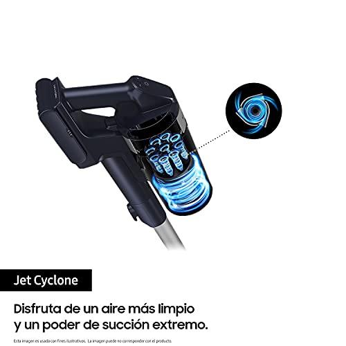 Samsung Jet 90 Multi Vs20R9044S2, Aspirapolvere Senza Fili Ricaricabile, Senza Sacco, Potenza 200W, Durata Carica fino a 60 Minuti, 6 Accessori, Base Self Standing, Titanium Silver