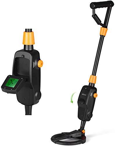 TTLIFE Hochempfindlicher Metalldetektor,Metalldetektor für Kinder,Schatzsuchwerkzeug mit wasserdichter Spule, Audio-LCD-Erkennung,Erkennungstiefe 5-50 cm,Lautstärke Einstellbar