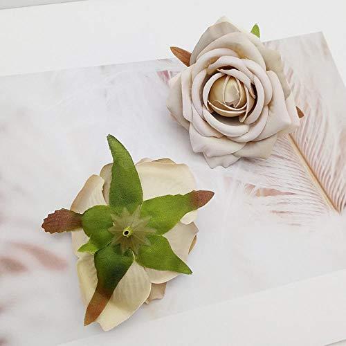5pcs vintage zijden kunstbloemen album steeg decoratieve bloem krans DIY Huis DIY nep flo,champagne