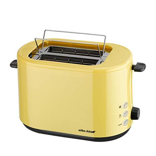 efbe-Schott SC to 1080.1 ROT Design-broodrooster met inklapbaar opzetstuk voor brood, metaal, kunststof geel