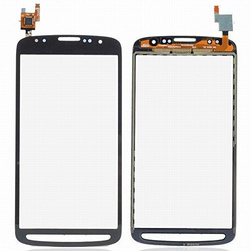 WeDone Kompatibel mit Samsung Galaxy S4 Active i9295 i537 Display Touchscreen Digitizer Glas(Ohne LCD) Ersatzteile + Klebeband & Werkzeuge (schwarz)