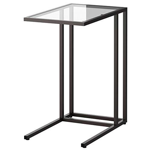 IKEA VITTSJÖ laptop stand black-brown/glass