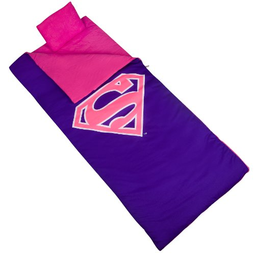 Wildkin Kids Sleeping Bags for Boys and Girls, Measures 66 x 30 x 1.5 Inches, Cotton Blend Materials Sleeping Bag for Kids, Ideal Size for Parties, Camping & Overnight Travel, BPA-free (Superman Pink)