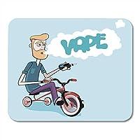 マウスパッドファッションアトマイザーバイク蒸気を吸い込むバーひげ自転車マウスパッドファッションノートブック、デスクトップコンピューターマウスマット、オフィス用品