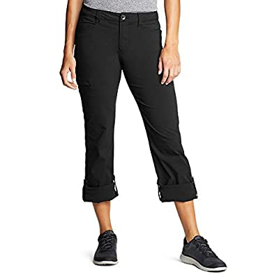 Eddie Bauer Women's Horizon Roll-Up Pants, Black Regular 16