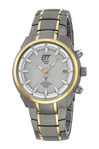 ETT Eco Tech Time Funk Solar Herren Uhr Analog mit Titan Armband EGT-11337-51M