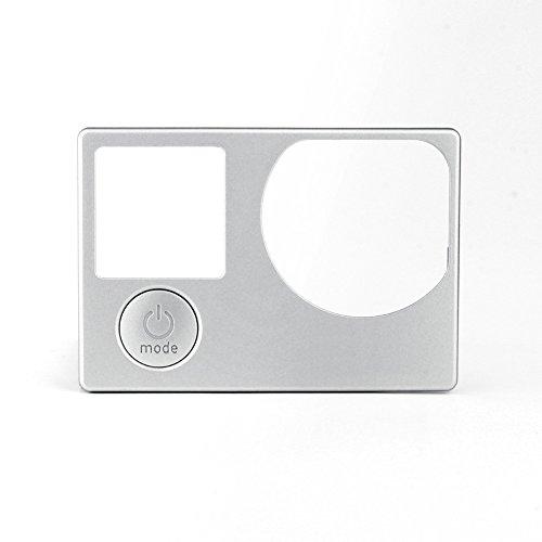Front Board Cover Voorpaneel met Mode Knop Faceplate Reparatie Deel Vervanging voor GoPro Hero 4 Zwart Zilver