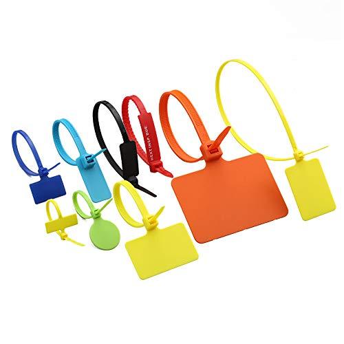 100 kabelbinders kunnen worden hergebruikt, meerdere maten meerkleurig verstelbare nylon kabelbinders voor laptops, pc's, kantoren, huishoudens, tv's enz. 300I-FG /100 oranje