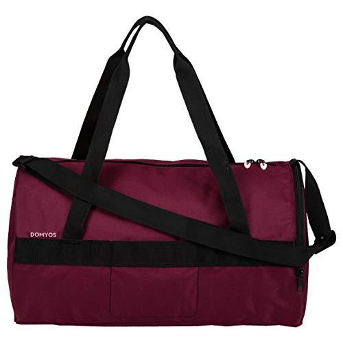 Domyos Sport- und Fitnesstasche mit Reißverschluss, Griffe und Schulterriemen, 20 Liter, violett, M