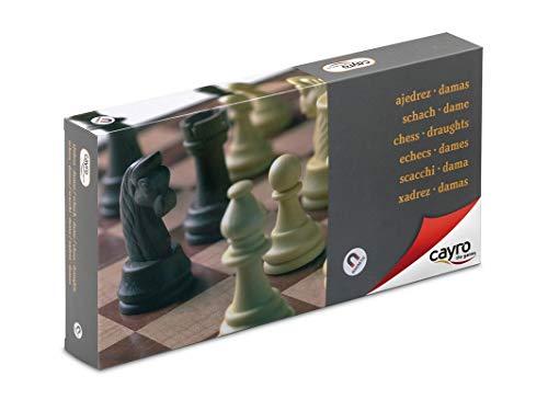 Cayro - Ajedrez/Damas magnético Grande — Juego de observación y lógica - Juego Mesa - Desarrollo de Habilidades cognitivas e inteligencias múltiples - Juego Tradicional (455)