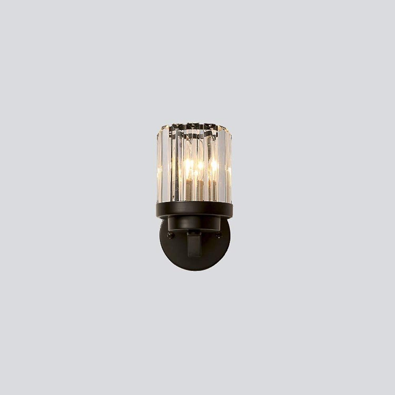ZCbd Amerikanischen stil Kristall Wandleuchte Persnlichkeit Einzelkopf Einfache Led Schlafzimmer Nachttischlampe Bad Badezimmerspiegel Scheinwerfer als Geschenk für Shop Mall