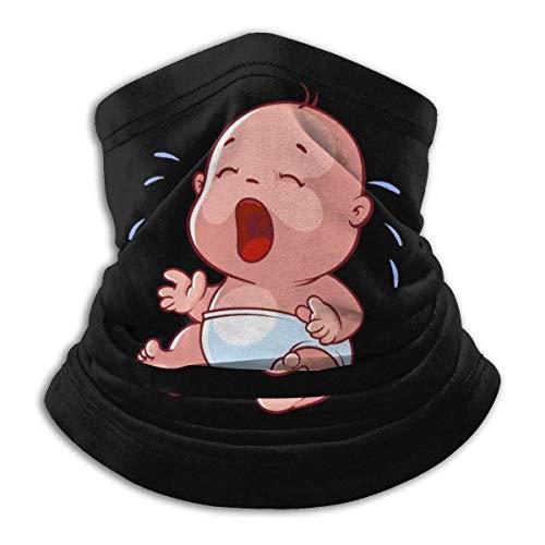 QDAS mannen vrouwen baby wijnen hals Gamas verwarmer verkoelende haarband voor hoofdwikkeling zwart