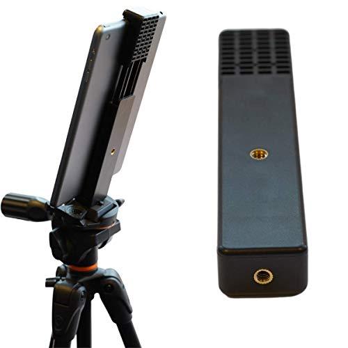 INVID Tablet Klammer 158-220mm für Stativ, Stativ Halterung, smartphone halter,Tablet Stativ Adapter 10 Zoll, 2 Stativ-Gewinde, Tablet Wandhalterung für Ipad, Ipad Air, Samsung Galaxy Tab Pro