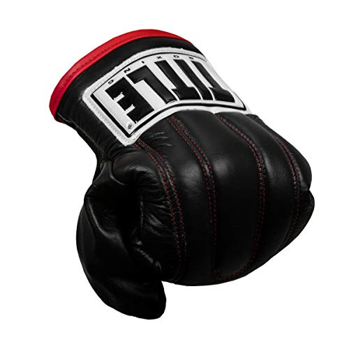 Title Boxing Pro Leather Speed Bag Gloves 2.0, Black, Regular