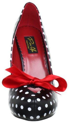 Pin Up Couture CUTIEPIE-06 Damen Pumps, Schwarz (Blk-wht pu (polka dots print)), EU 37 (UK 4) (US 7) - 2