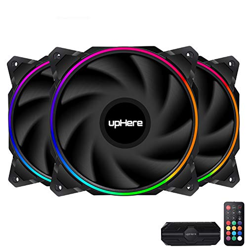 upHere Ventilator 120 mm RGB LED hoher Luftstrom und leiser Lufter EN1206 3