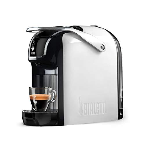 Bialetti Break - Macchina Caffè Espresso a Capsule in Alluminio con sistema Bialetti il Caffè d'Italia, Design compatto, Bianco