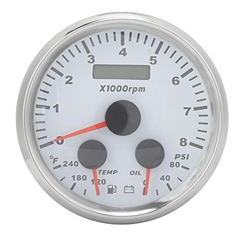 Medidor de presión de Aceite, medidor de presión de Aceite de 85 mm para modificación de vehículos para Barcos de 9-32 V, autocaravanas, Yates