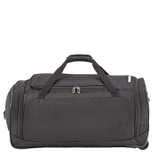 travelite Trolley Reisetasche Größe L, Gepäck Serie CROSSLITE: Robuste Weichgepäck Reisetasche mit Rollen im Business Look, 089501-01, 79 cm, 117 Liter, schwarz