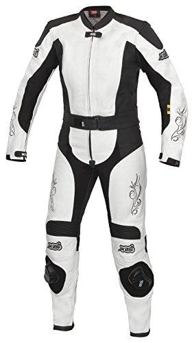 XLS Lederkombi Tribal Lady/Damen Leather suit schwarz weiß (36)