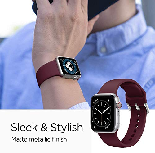 Supore 6 Pack Apple Watch Cinturino, Compatibile per Apple Watch 44mm 42mm 38mm 40mm, Silicone Traspirante Cinturini Sportiva di Ricambio per Apple Watch SE /iWatch Series 6 5 4 3 2 1