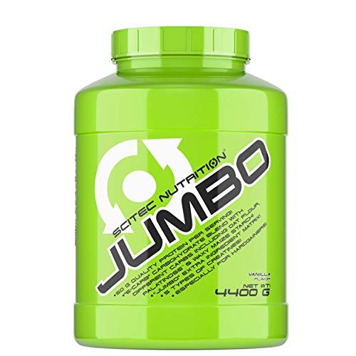 Scitec Nutrition Jumbo Bote de ganador de peso, sabor vainilla - 4400 gr