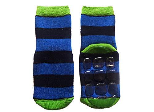 Weri Spezials Baby- & Kinder Voll-ABS Socken 'Ringel', Größe:27/30, Farbe:Royalblau